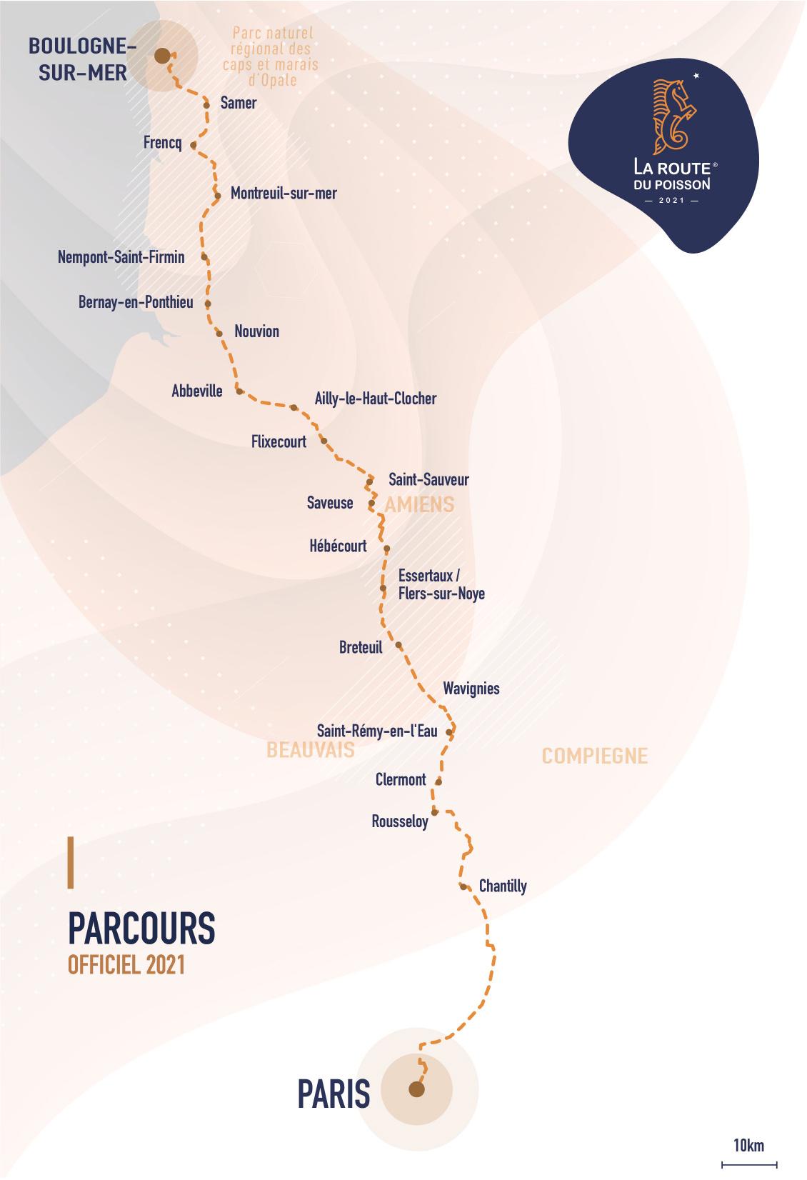 Parcours La route du Poisson de Boulogne-sur-mer à Paris